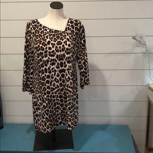 Alfani leopard print dress